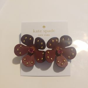 Kate Spade Studded Leather Flower Earring